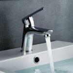 Grifo monomando para lavabo de la serie SIOUX, latón de alta calidad, cromo con brillo