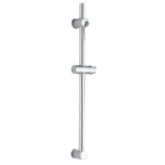 Kit barra de ducha BAR, con soporte deslizante para maneral, tubo de diámetro de 25 mm de acero inoxidable