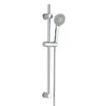Kit de ducha de mano con 3 posiciones hidromasaje TRENTO con barra ducha y flexo de acero inoxidable